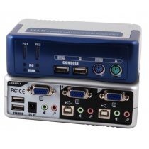 2-Port KVM Switch PS/2-USB-Aud (EB942)